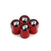 эмблема мини-автомобиля оптовых-Металлические клапаны для шин Rline Red Typer Mini с металлическим корпусом Крышки от пыли для шин Крышки для эмблемы автомобилей MT Значки на клапанах шин общего назначения Крышка автомобильных клапанов