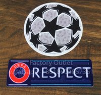 Wholesale badge accessories online - Champion League respect ucl Soccer patch badge