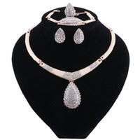 Wholesale jewellery for bridal resale online - Dubai Jewelry Sets Nigerian Wedding Sets African Gold Color Indian Bridal Jewellery Sets For Women Turkish Jewelry