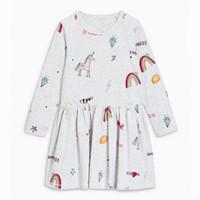 Wholesale embroider robe - Toddler Girl Dress Kids Clothes Brand Long Sleeve Girl Party Dress Robe Fille Enfant Patterns Print Princess Dresses