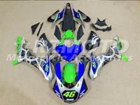 kit de carenado yzf r1 verde al por mayor-3 regalos gratuitos Carenados completos para Yamaha YZF 1000-YZF-R1-15 YZF-R1-2015 Motocicleta Kit completo de carenado verde azul I15