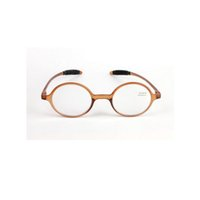 olhos castanhos claros venda por atacado-Óculos de Leitura Retro Moda Rodada Lentes De Resina Óculos Mulheres Homens Ampliação Leitor De Olho Marrom Plástico Completo Quadro + 1.0 ~ + 4.0 Peso Leve