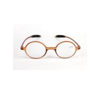 508bccd9b5e Retro Reading Glasses Fashion Round Resin Lens Eyeglasses Women Men  Magnification Eye Reader Brown Full Plastic Frame +1.0~+4.0 Light Weight
