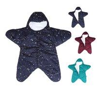 ingrosso stella di sonno del bambino-Baby Cute Star Sacco a pelo Neonato Letto Swaddle Coperta Wrap Starfish Neonato Carrozzine Letto Swaddle Bedding