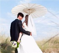 Wholesale bridal parasols - Bridal Wedding Parasols White Paper Umbrellas Chinese Mini Craft Umbrella Diameter 20 30 40 60cm Wedding Umbrellas DHL FEDEX free