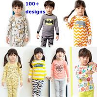 Wholesale girls pink sleepwear - 100% cotton kids pajamas 2017 Children autumn Clothing Set Girls pijamas infantil sleepwear for boys pajamas baby nightwear