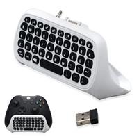 Wholesale usb wireless keyboard receiver - Bevigac Mini Wireless 2.4GHz Keyboard Keypad Online Chat Pad For Xbox One Xbox One Slim S Controller&USB Receiver Game Accessory