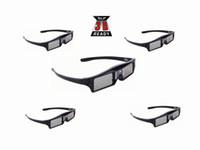 ingrosso dlp occhiali di collegamento dell'otturatore-5pcs otturatore attivo 144Hz occhiali 3D per Acer / BenQ / Optoma / ViewSonic / Dell / LG / Vivitek / DLP Link Projector