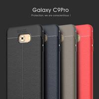 piel protectora de teléfono celular al por mayor-Para Samsung c9 pro funda protectora de TPU suave con patrón de piel, funda protectora