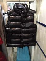 пуховая куртка оптовых-Классический бренд мужской зимний пуховой жилет перо Weskit куртки мужские случайные жилеты пальто верхняя одежда мужская куртка