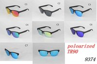 Wholesale frog cats - Brand New Frog Sunglasses Men Women Skins Polarized TR90 Half frame Sunglasses Summer UV400 Cycling Outdoor Sports Sun Glasses 9374 MOQ=5