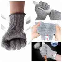 Wholesale gloves anti cut - Safety Anti Cut Resistant Gloves Cut Resistant Butcher Gloves Kitchen Outdoor Explore Mesh Butcher Gloves Other Kitchen Tools FFA533