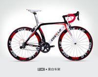 yol bisikletleri karbon fiber toptan satış-SıCAK SATıŞ! Tam karbon costelo lucca yol bisiklet karbon fiber bisiklet DIY komple yol bisikleti completo bicicletta bicicleta completa