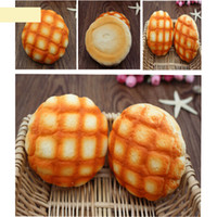 Wholesale squishy bun toys resale online - Jumbo Toys Pineapple Bun Bread Squishy Super Slow Rising Phone Strap Bread Stretchy Fun Gift Cute Sweet Cream Scented Kids Toy