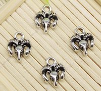 15pcs Antiqued Silver Alloy Sheepdog Shaped Charms Pendants Crafts Jewelry 39969