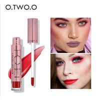 Wholesale Applying Makeup - 2018 O.TWO.O Brand Matte Color Lip Gloss Easy to Apply Long Lasting Lips Makeup Lipstick Liquid Lipgloss Matte 12 colors