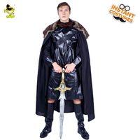 ropa de nieve al por mayor-Venta caliente de los hombres adultos John Snow King en traje de disfraces John Snow Clothes Cosplay carnaval fiesta King Disfraces