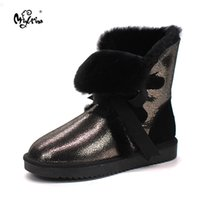 Wholesale borders australia - retail Australia High quality Women s Classic Snow Boots real Sheepskin medium style winter boots womens