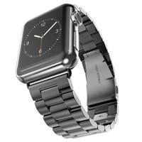 браслет из нержавеющей стали оптовых-Ремешки из нержавеющей стали Epacket с браслетом для Apple Watch Series 1 2 3 iWatch 38 мм / 42 мм
