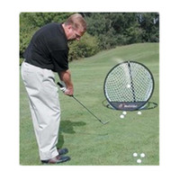 Wholesale golf nets for sale - Group buy Auto Pop Up Golf Chipping Pitching Practice Net Portable Foldable Training Aid Tool Diameter cm Round Mesh Storage Nets ms ZZ
