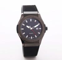 relógios de fivela para mulheres venda por atacado-Relógio dos homens de alta qualidade relógio de data automático de luxo marca de topo das mulheres relógio casual mostrador preto cinto de couro de silicone fivela de presente relógio