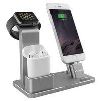 se watch оптовых-Алюминиевый сплав зарядки док-станция стенд держатель для AirPods IPad Air Mini Apple Watch iWatch 38 мм 42 мм iPhone X 8 7 6 6S 5S SE Plus