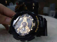 Wholesale water resistant watch analog alarm - 2018 AAA G 110 Mens Watches Top Brand Shock Style Outdoor Sport Wristwatches Fashion Military Digital Autolight LED Clock Alarm Watch Saat