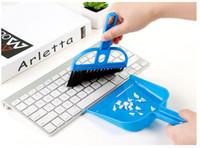 mini-computer-tische großhandel-Creative Desktop-Reinigungsset Mini Mini-Besenkehrschaufel 2-teiliger Computer-Tastaturbürsten-Tischreinigungspinsel
