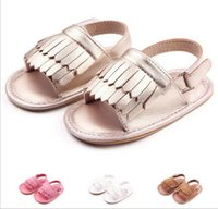 Wholesale mix kids shoes - Mix Colors Baby Girls Nubuck leather Tassel Princess Shoes Kids designer Shoes toddler Infant Newborn sandals Children first walker