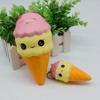 Wholesale Rose Cone - 22cm 20cm 18 10cm Cone Ice Cream Squishy Giant Smile Face Torch Super Spft Slow Rising Jumbo Squeeze Stress Reliever Phone Charms