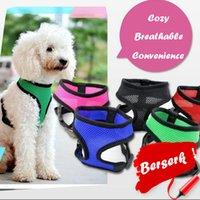 arnés ropa de moda al por mayor-Dog Fashion CW002 chaleco de aire suave malla de nylon arnés del animal doméstico ropa para perros arnés del perro ropa para mascotas