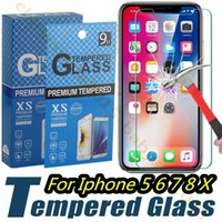 Wholesale 4.7 screen phones online - for iphone Plus X XR XS Max Tempered Glass Film Screen Protector for samsung galaxy s6 s7 s8 s9 note htc android phone