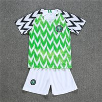 Wholesale national children - Nigeria 2018 New World Cup Kids Kit Soccer Jersey home 9 Starboy Sports shirt Okechukwu Dayo Ojo Osas Okoro Child national team Football Uni