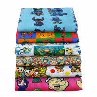 Wholesale sewing beds online - 50 CM patchwork printed cartoon boys Polyester cotton fabric for Tissue Kids Bedding home textile for Sewing Tilda Doll c424