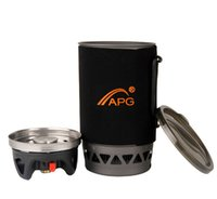 APG 1400ml portable Hiking camping gas stove burners system and flueless cooking