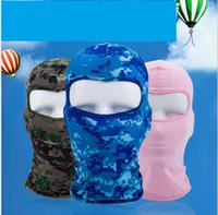 Wholesale sky cycling hat resale online - Bicycle Cycling Masks Motorcycle Barakra Hat Cycling Caps Outdoor Sport Ski Mask CS windproof dust head sets Camouflage Tactical Mask