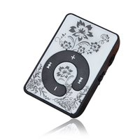 Wholesale protable mp3 player for sale - Mosunx Mini Clip Flower Pattern MP3 Player Music Media Support Micro SD TF Card Protable Mini Mp3 Music Player