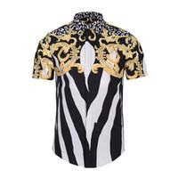 ingrosso unico casual-Camicie a maniche corte a maniche corte da uomo estate Camicie a medusa uniche a manica lunga con stampa 3D Camicie eleganti da uomo Harajuku di lusso