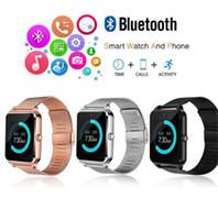 gsm akıllı telefonlar saat toptan satış-Z60 Bluetooth Smart İzle Erkekler Smartwatch Android ios Telefon Görüşmesi 2G GSM SIM TF Kart Kamera Dokunmatik saat reloj inteligente