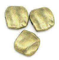 joyería express al por mayor-Envío gratis 50 piezas de espaciador cuentas tono cuadrado de bronce 11 mm x 10 mm (3/8