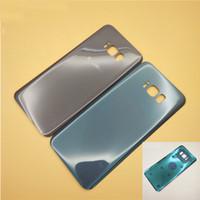 задний корпус samsung оптовых-Горячая 50 P оригинальный аккумулятор Дверь задняя крышка корпуса крышка стекла для Samsung Galaxy S8 G950 G950P S8 Plus G955P с клейкой наклейкой