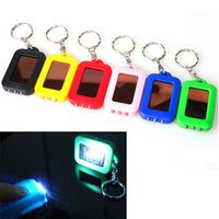 Wholesale small keychain led lights - Key Chain Flashlights Mini LED Small Non-solar Keychain Flashlight Small Portable Light Sell Daily Carry BBA292