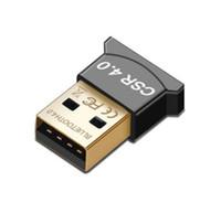 bluetooth usb für laptop großhandel-Bluetooth Adapter USB CSR 4.0 Dongle Empfänger Übertragung Wireless für Laptop PC Computer Win10 7 Lan Zugangswahl für Respberry