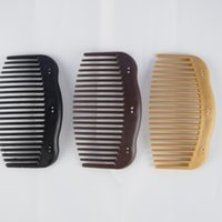 Wholesale African Jewelry Making - 100pcs   lot Brown Plain comb magic hair comb hair jewelry african butterfly DIY Making comb Clips accessory
