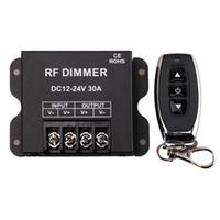 Wholesale rf led controller manual for sale - Group buy 12V RF LED Dimmer Wireless Brightness Keys Remote Controller DC12V V A W W for Single Color Strip Lights