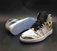 zapatos altos 16 al por mayor-Con Box Top Quality 1 OG High Pass The Torch Hi Think 16 Zapatillas de baloncesto para hombre 1s Plateado Blanco Zapatillas de deporte Zapatillas The Shoe Surgeon x