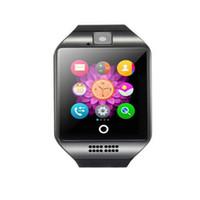smartwatch gv18 оптовых-Q18 Смарт часы с WristWatch камеры для Android телефона SmartWatch PK U8 A1 DZ09 M26 GT08 GV18 T8