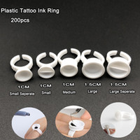 Wholesale tattoo cups holder for sale - Group buy Hot Plastic Tattoo Ink Ring for Eyebrow Permanent Makeup All Sizes white Tattoo Pigments Ink Holder Rings Container Cup