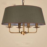 lampenschirm stoffe groihandel-Fabric Drum Shade Pendelleuchte Leuchte Neue hochwertige grüne große Stoff Tuch Schatten Pendelleuchte Kunst Lampen E004
