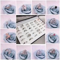 Discount diy pc - 40 Styles Pearl Ring Settings DIY Ring Setting Fashion Jewelry Pearl Ring Wedding Rings 925 Silver Rings For Female DIY Gift 4 pcs lot